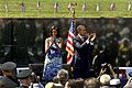 Michelle and Barack Obama applaud Vietnam War veterans, 2012.jpg