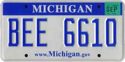 Michigan license plate 2008