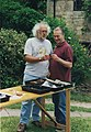 Mick Aston and Tony Robinson, Waltham Fields, 2000.jpg