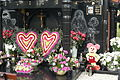 Mickey Mouse at the cemetery. Funeral wreath in the shape of the mouse. Witkowo.JPG