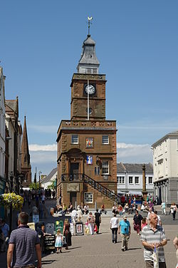 Dumfries sentrum.