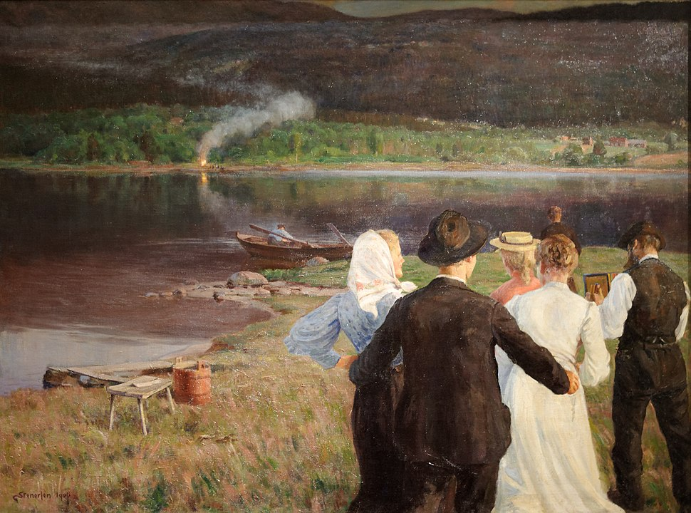 Midsummer Night, Gudmund Stenersen (1906).