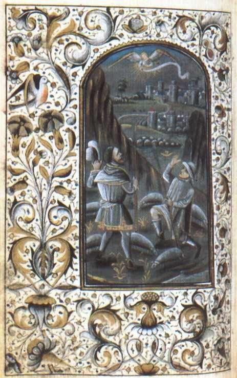 Milan Book of Hours (Annunciation to the Shepherds)