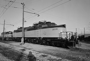 Chicago, Milwaukee, St. Paul and Pacific Railroad - A Little Joe at Deer Lodge in October 1974, after the end of electrified operation