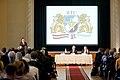 Ministru prezidents Valdis Dombrovskis publiskās lekcijas ietvaros kopā ar Somijas Ministru prezidentu Jirki Katainenu (Jyrki Katainen) salīdzina Somijas un Latvijas pieredzi ekonomisko krīžu pārvarēšanā 16.09.11. (6152178169).jpg