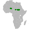 Mirafra rufa distribution map.png