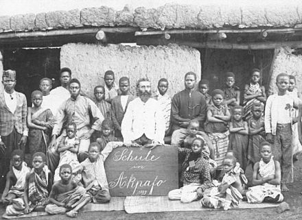 North German missionary school in Togo, 1899 Missionar Pfisterer Norddeutsche Mission 1899.jpg