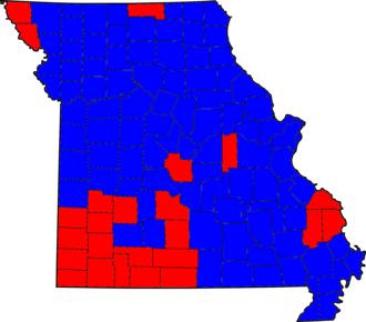 Missouri gubernatorial election, 1992 - Image: Missouri Gubernatorial Election 1992