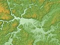 Miyoshi Basin Relief Map, SRTM-1.jpg