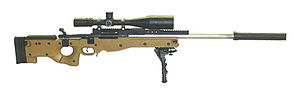 Accuracy International Arctic Warfare - US Navy Mk 13 MOD 5 SWS using an AICS 2.0 stock and a Remington 700 based receiver.