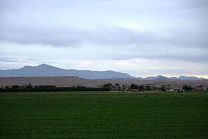 Moapa Valley, Nevada - From Moapa Valley, looking east towards the Mormon Mesa