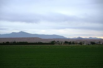 Moapa Valley, Nevada - From Moapa Valley, looking east towards the Mormon Mesa