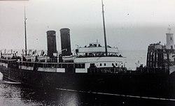Mona's Isle enters Douglas Harbour.