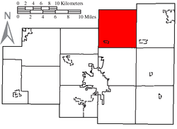 Location of Monroe Township, Allen County, Ohio