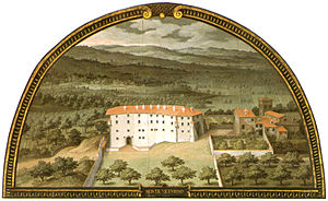 Villa di Montevettolini - Villa di Montevettolini by Giusto Utens.