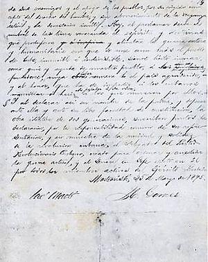 Documento firmado por José Martí y Máximo Góme...