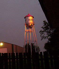 Water tower in Montour