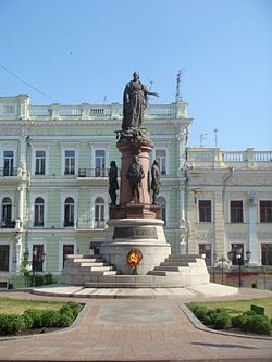Monument to Odessa founders 2010.JPG