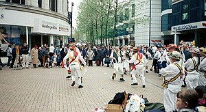 North End, Croydon - Morris Dancers in North End, circa 2001