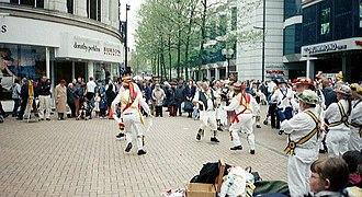 North End, Croydon - Morris Dancers in North End, circa 2001