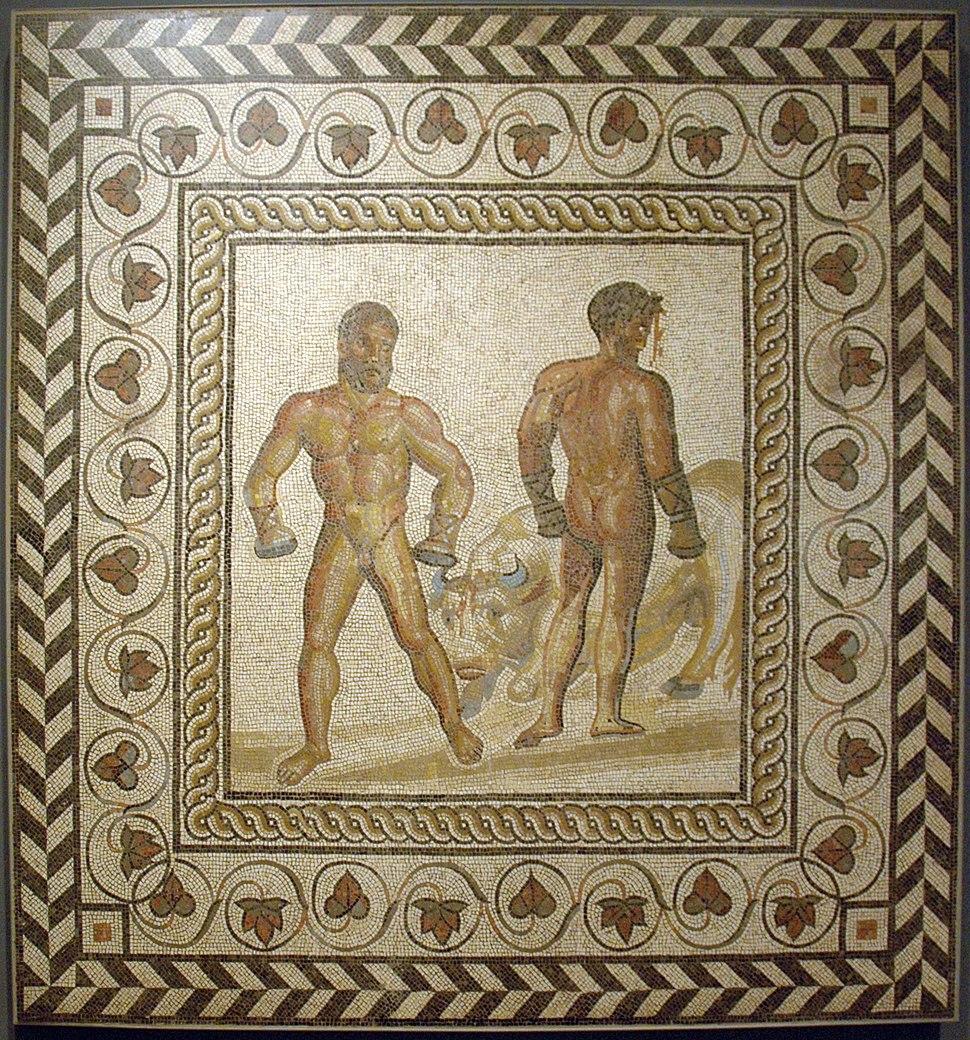 Mosaic boxers Getty Villa 71.AH.106
