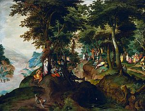Landscape with St. John preaching