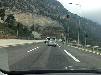 Highways in Greece - Motorway A1 near Agios Konstantinos