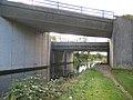 Motorway bridge, Lancaster Canal - geograph.org.uk - 1540571.jpg