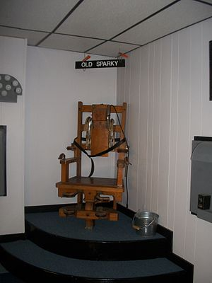 West Virginia State Penitentiary - The original Old Sparky on display