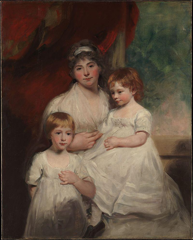 Миссис Джон Гарден (Ann Garden, 1769-1842) и ее дети, Джон (1796-1854) и Энн Маргарет (род.1793) встретились с DP164786.JPG