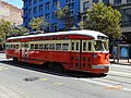 Muni 1059 on Market Street, August 2014.jpg