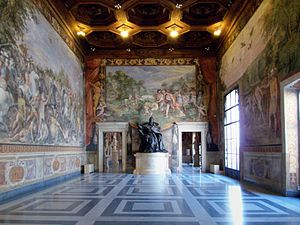 Treaty of Rome - The audience chamber at the Palazzo dei Conservatori where the treaty was signed