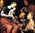 Museo. Tabla de la Adoración de los Reyes Magos, de Pedro de Campaña.jpg