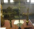 Museo diocesano di klagenfurt, crocifissi processionali del 1200 circa.JPG