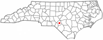Raeford, North Carolina - Image: NC Map doton Raeford