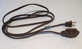 Extension cord - NEMA-1 extension cord, common in the United States