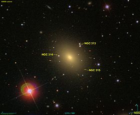 La galaxie elliptique NGC 315