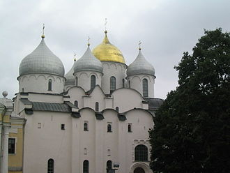 Diocese of Novgorod - The Cathedral of Holy Wisdom in Novgorod the Great, the cathedral church of the Archbishop of Novgorod, consecrated in 1052.