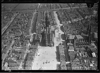 Delft - Aerial view by the Dutch airforce before World War Two