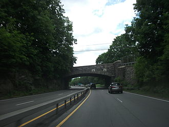 New York State Route 9A - NY 9A and NY 100 southbound in Briarcliff Manor