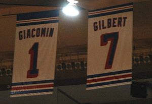 New York Rangers Retired Numbers 1 + 7 in the ...