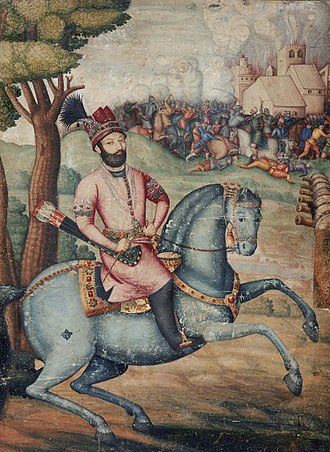 Nader Shah's invasion of the Mughal Empire - Representation of Nader Shah at the sack of Delhi