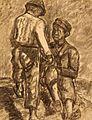 Nagy Soldier with a Boy 1920.jpg