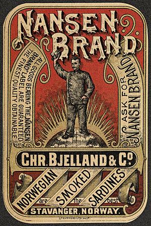 Christian Bjelland I - Nansen Brand. 1896. Nasjonalbiblioteket