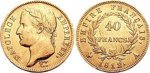 Laureate - Image: Napoleon I 40 Francs 76001795