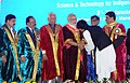 Narendra Modi felicitating the awardees at the inauguration ceremony of the 103rd Session of Indian Science Congress, in Mysuru. The Governor of Karnataka, Shri Vajubhai Rudabhai Vala and other dignitaries are also seen.jpg