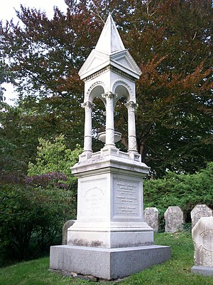 Nathan Appleton - Grave of Nathan Appleton and other members of the Appleton family at Mount Auburn Cemetery