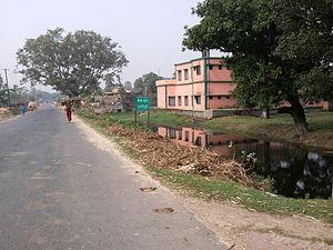 Dullipatti - National Highway 105, passing through Dullipatti Village