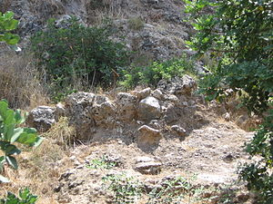 Natufian culture - Remains of a wall of a Natufian house