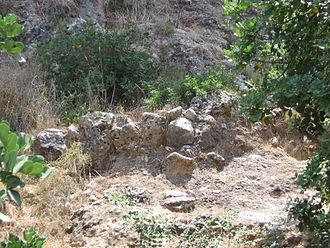 Natufian culture - Remains of a wall of a Natufian house